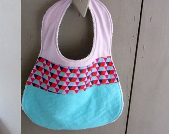 Large bib snap colored Triangles