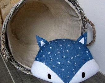 Fox jeans floral decorative pillow