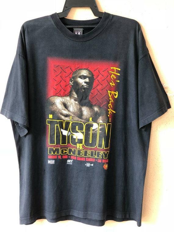 Rare Mike Tyson Evander Holyfield Vintage Cotton Black Men S-4XL T-shirt T591