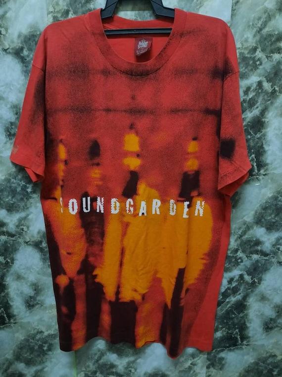 Vintage Soundgarden Fullprint Rare Grunge T Shirt