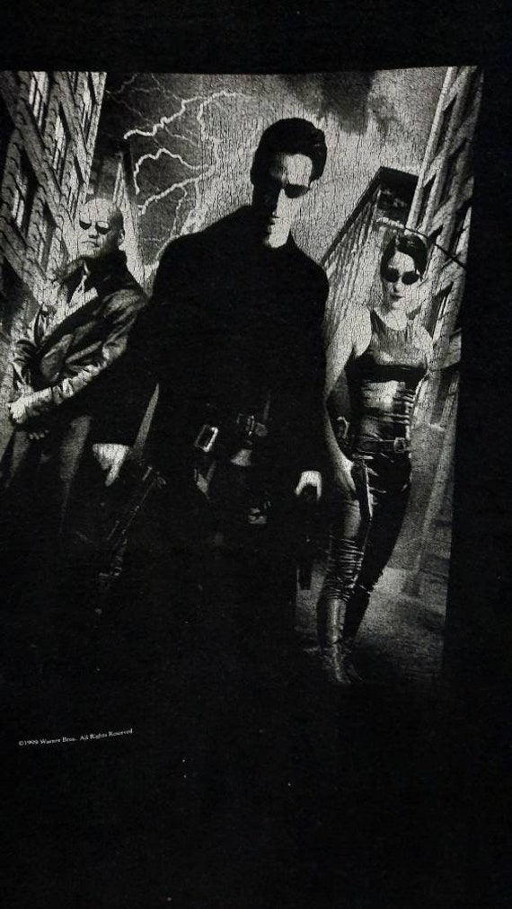 Vintage 90s The Matrix Movie Promo T Shirt
