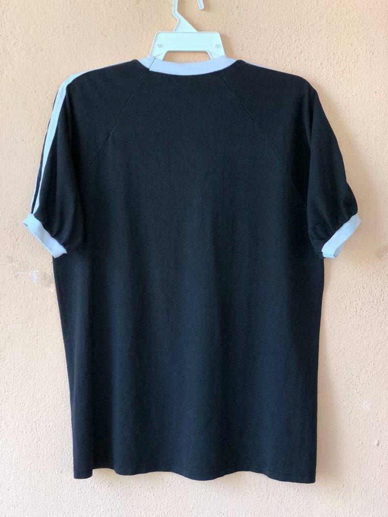 Vintage 02 Blondie V Neck Punk Rock Ringer T Shirt