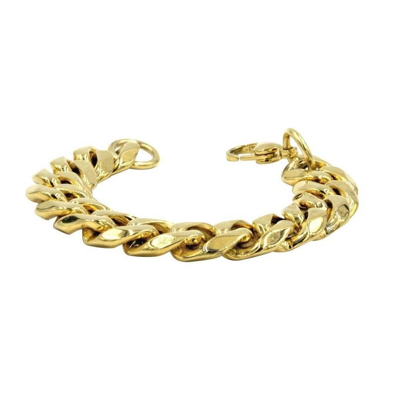 Gold Jewelry Chain Link Bracelet Gold Arm Cuff Gold Chain Bracelet Chunky Chain Gold Jewelry Thick Gold Cuban Link Bracelet