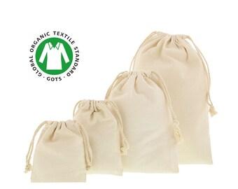 Sac à vrac biologique, pochette cadeau noel anniversaire réutilisable, zéro déchet, pochon lavable écologique, achat vrac, durable