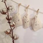 KIT Complete to make a Christmas Advent Calendar, 24 -1 reusable cotton bags, DIY eco-friendly Christmas, countdown, magical Christmas