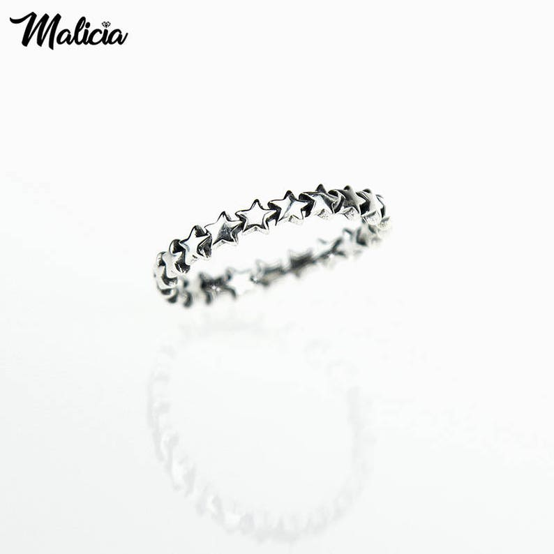 007-925 sterling silver band ring with Star