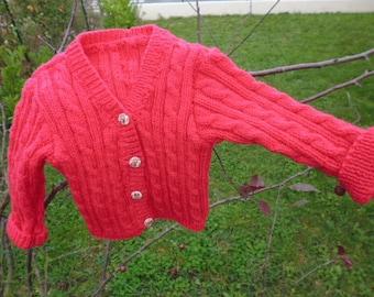 Fuchsia jacket baby girl size 12 months