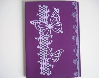 Purple butterfly card all occasions