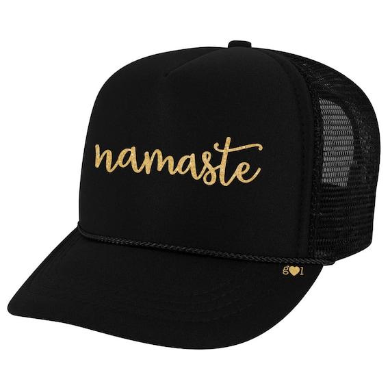b792bcc74e5f6 namaste - glitter trucker hat (multiple colors)