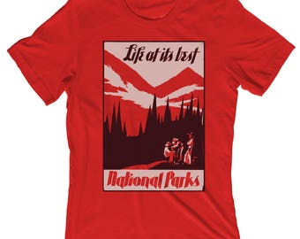 National Parks Life at its Best National Park Shirt T-Shirt