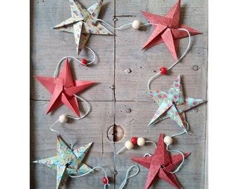 Origami hanging star Garland
