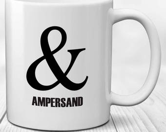 Writer's Ampersand Punctuation Grammar Mug