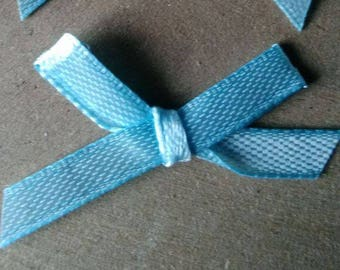 set of 4 to customize your creations light blue satin bows