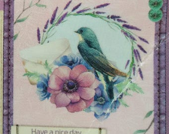 set of 15 pieces for scrapbooking or cardmaking 3D romantic nature themed, shabby chic