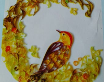care to not for quilling, paperole pattern flower, wreath, bird