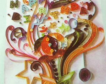 listing for quilling, paperole model birthday gift
