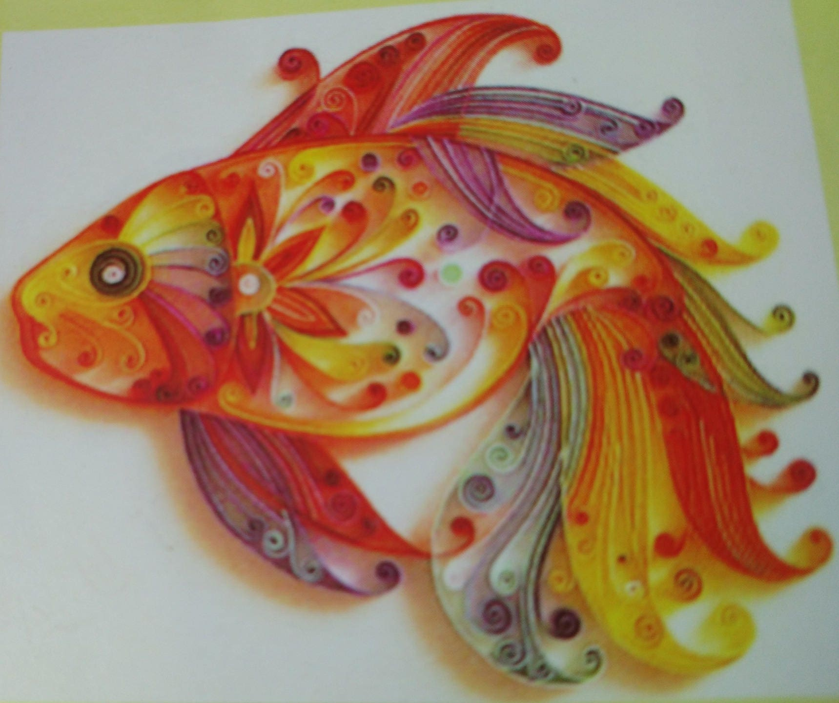 listing for quilling, model paperole fish, koi carp from ...