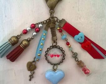 LOVE, bag charm Keyring