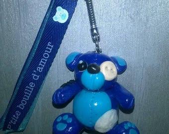 Teddy bear, bag charm Keyring