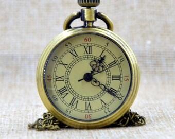 1 Pocket Watch Pocket Watch Bronze antique mechanical + within 15 days, mason watch chain