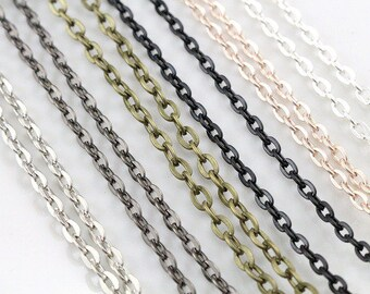 1 4 x 3 mm plated by hand 70 cm chain necklace