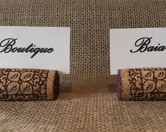 Porte-noms Bouchons en Liège - Table Originale
