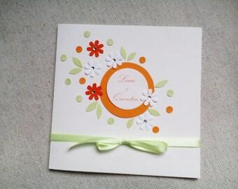 Romantic rustic wedding invitation
