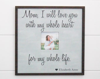 Mother's Day Gift, Mom Gift, Gift for Mom, Picture Picture Frame Gift, Gift for Mothers Day, Mom Frame  14x14