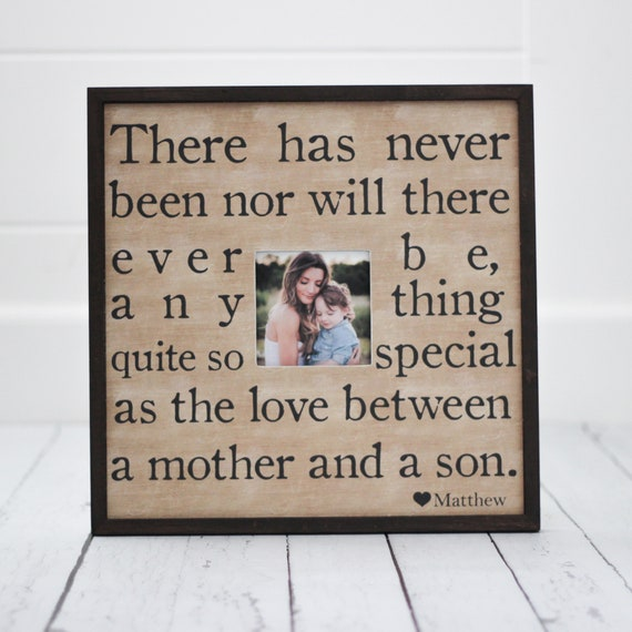 Mothers Day Gift Mother Son Frame Personalized Picture Etsy