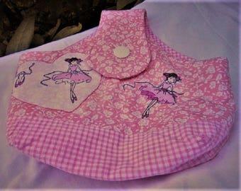 Bag fabric child - dance bag - fabric basket - girl - girl - Dance - ballerina - dancers - unique - handmade-