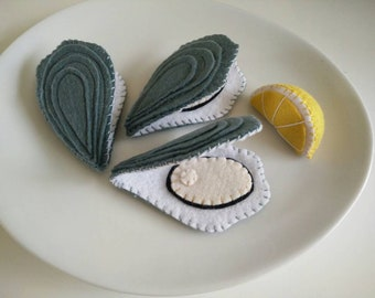 Assorted 3 oysters in felt and lemon