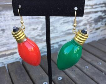 Large Christmas Bulb Earrings  JE6-5