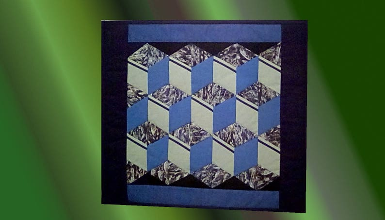 Minéral. Quilt/patchwork consisting of nine blocks image 0