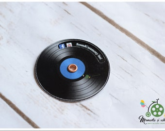 mini dj spinning business card unique design business card dj spinning round business card dj disc printed music theme business card - Round Business Cards