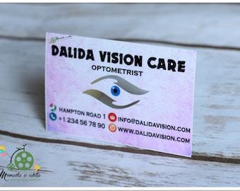 Optometry card etsy optometrist business card unique interior eye cut original business card printed custom made eye business cards optometry business colourmoves