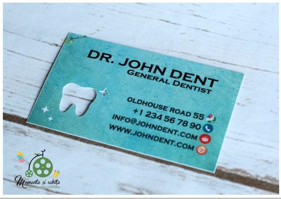 Dentiste Carte De Visite Unique Dent Interieur Coupe Originale Imprimee Fait Sur Commande