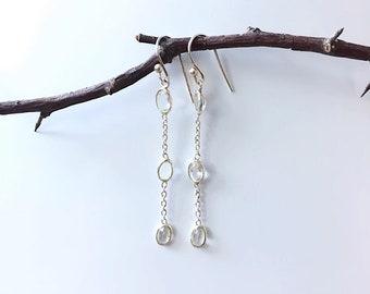 Cubic zirkonia earrings Sterling silver , Helena design , Nordic design