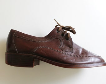 Vintage Men's Genuine Leather Shoes By Peko Classic Stlyle Casuals Made in Yugoslavia RARE