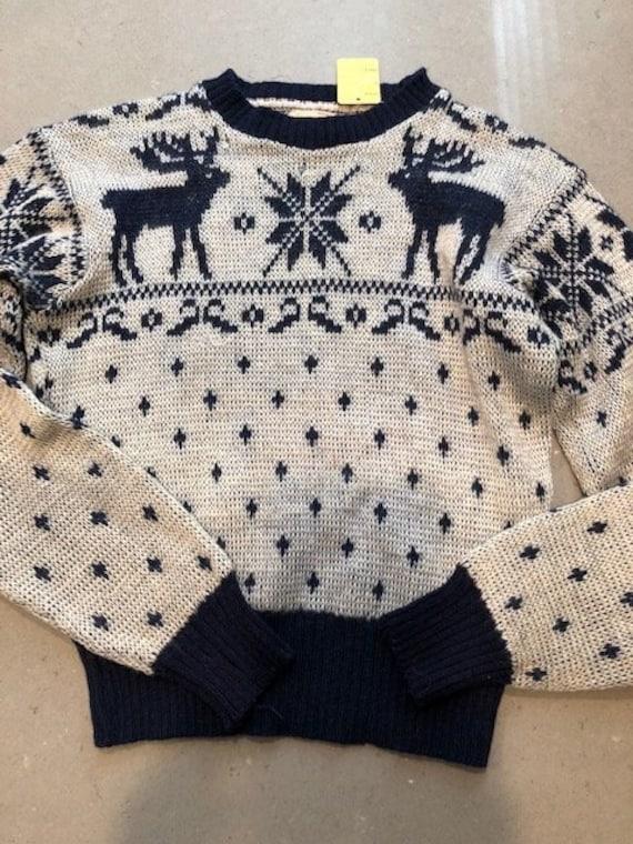 S M 40s Vintage Jantzen Reindeer Sweater SM 34 194