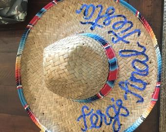 Custom Bachelorette Sombrero - last fiesta 87054fa801f