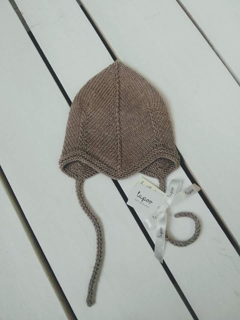 Hand Knitted Merino Woll Baby Hat Tapoo Made To Order Etsy