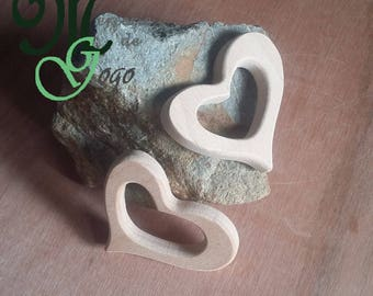 Natural wooden teething ring. Large heart shape.