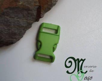 Apple green plastic quick release clip buckle.