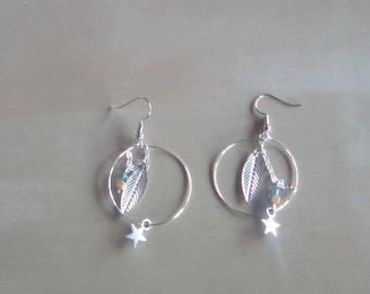 Silver Star Earrings dangle EARRINGS