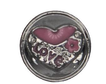 Bouton-pression pour bijou click 18 20 mm, Love, Chunk,Snap Button,charm,boutons  pression, Noosa Style (R-1081) 417d3377ba7