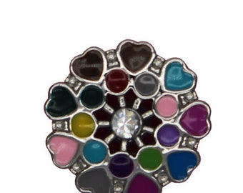 Bouton-pression pour bijou click 18 20 mm, Cœurs, Chunk,Snap Button,charm,boutons  pression, Noosa Style (R-1162) 6aaadeb8f04