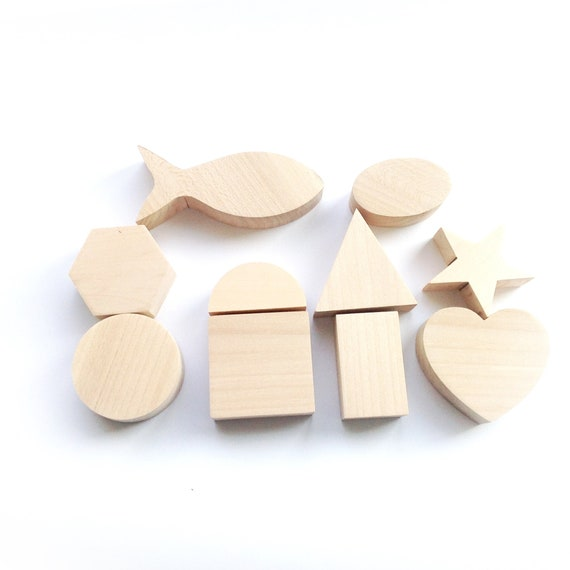 Set Of Wooden Toys Diy Shapes Toys For Kids Wood Toys For Gift Learning Shapes Montessori Shapes Educational Preschool Geometric Toys