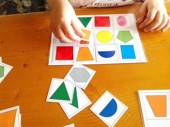 Shapes and Colors Learning Shapes Game Matching Shapes Toddler | Etsy