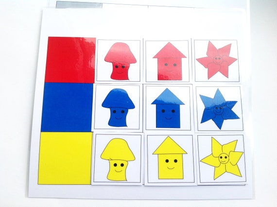 Color Matching Game Homeschool Learning Colors Preschool Learning Toys  Toddler Learning Game Preschool Homeschool Toys Kids Education Toys