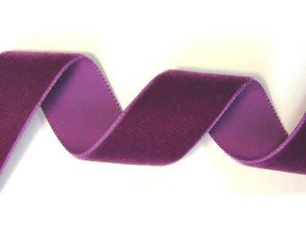 Velvet, 23 mm, Purple Ribbon, sold by the yard.